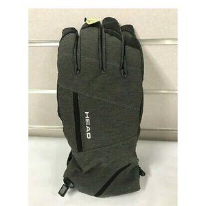 HEAD Uni Ski Gloves with DuPont Sorona Insulation Glove Charcoal, Large